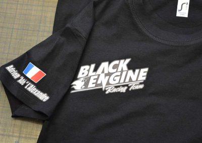 Flocage impression Team Black Engine