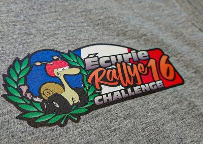 Flocage impression Ecurie Rallye 16