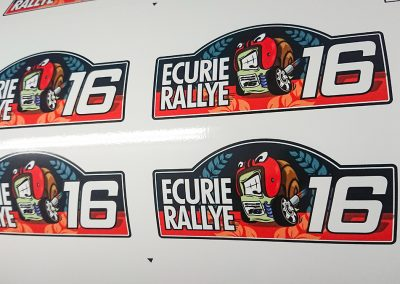 Stickers Ecurie Rallye 16