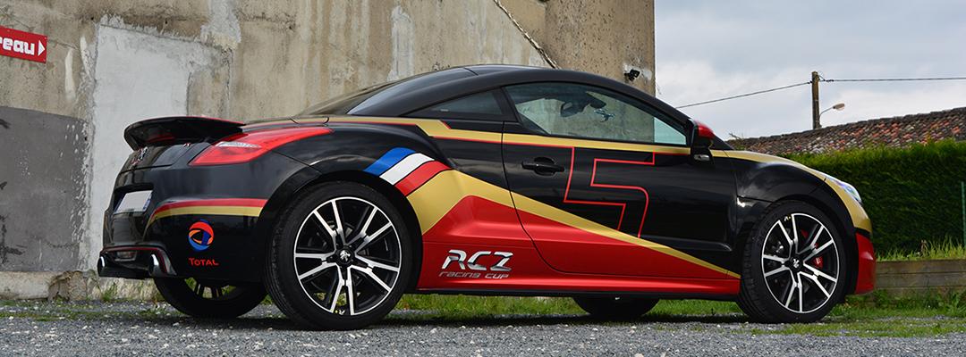 kit déco Peugeot RCZ R découpe et covering